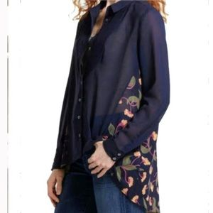 Anthropologie Maeve High Low Button Down tunic 2